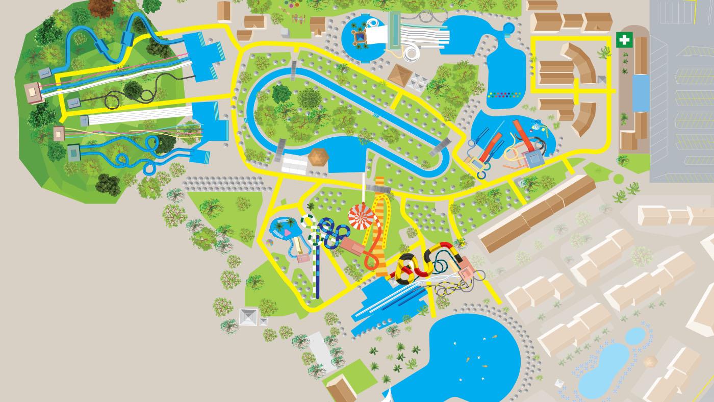 aqualand map plan